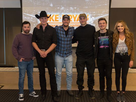 Luke Bryan, Sam Hunt & Jon Pardi at Fenway Park