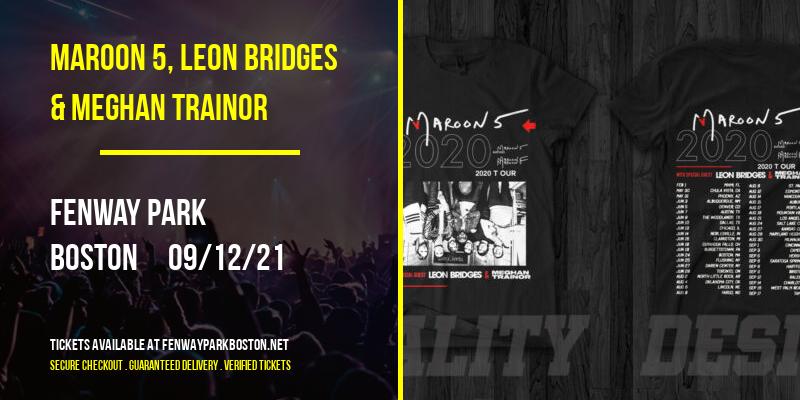 Maroon 5, Leon Bridges & Meghan Trainor at Fenway Park