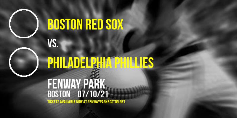 Boston Red Sox vs. Philadelphia Phillies at Fenway Park